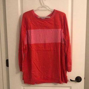 Cute pink sweater with light pink stripe